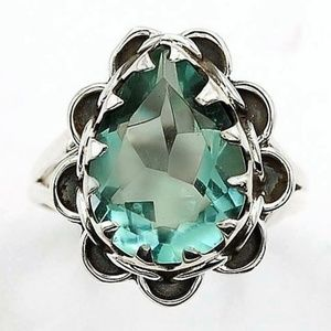 Jewelry - 5CT Aquamarine 925 Silver 6.5